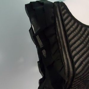 Rampage Tops - Rampage Black Sleeveless Ruffled Blouse